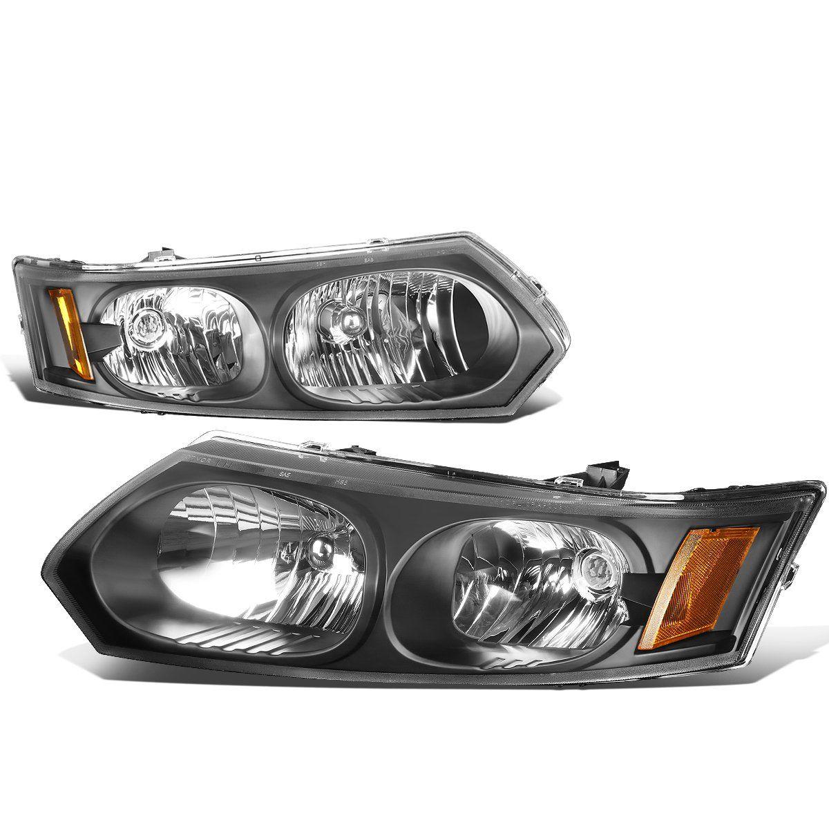 D Motoring 03 07 Saturn Ion Headlights Black Housing Amber Corner Plug N Play Pair Headlights Black House Sedan