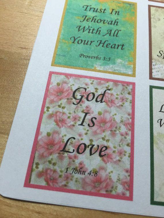 JW Planner Scripture Stickers by Bellaroseplanners on Etsy
