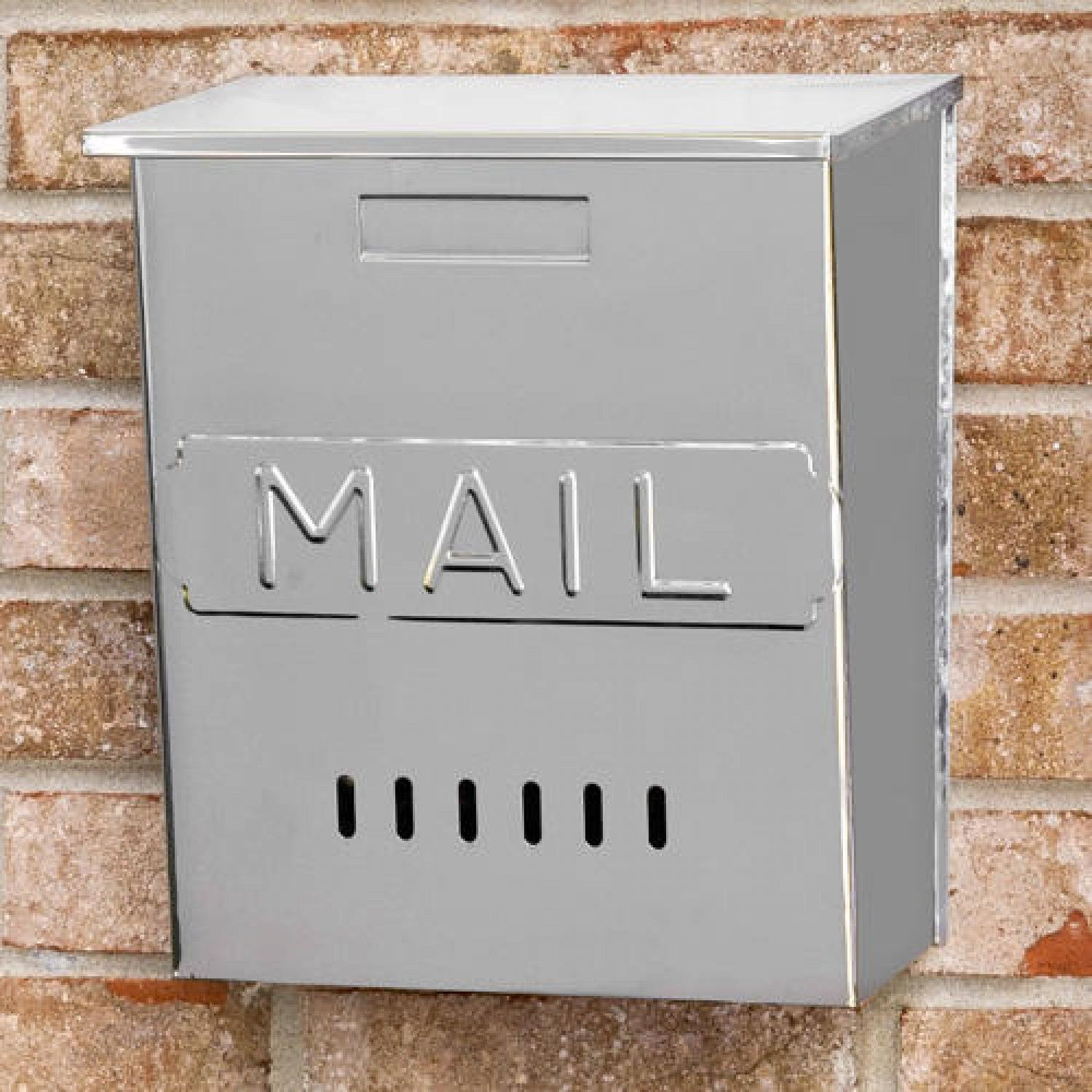 Vertical Mail Wall Mount Stainless Steel Mailbox Mailboxes And Slots Outdoor Stainless Steel Mailbox Wall Mount Mailbox Outdoor Shower Kits