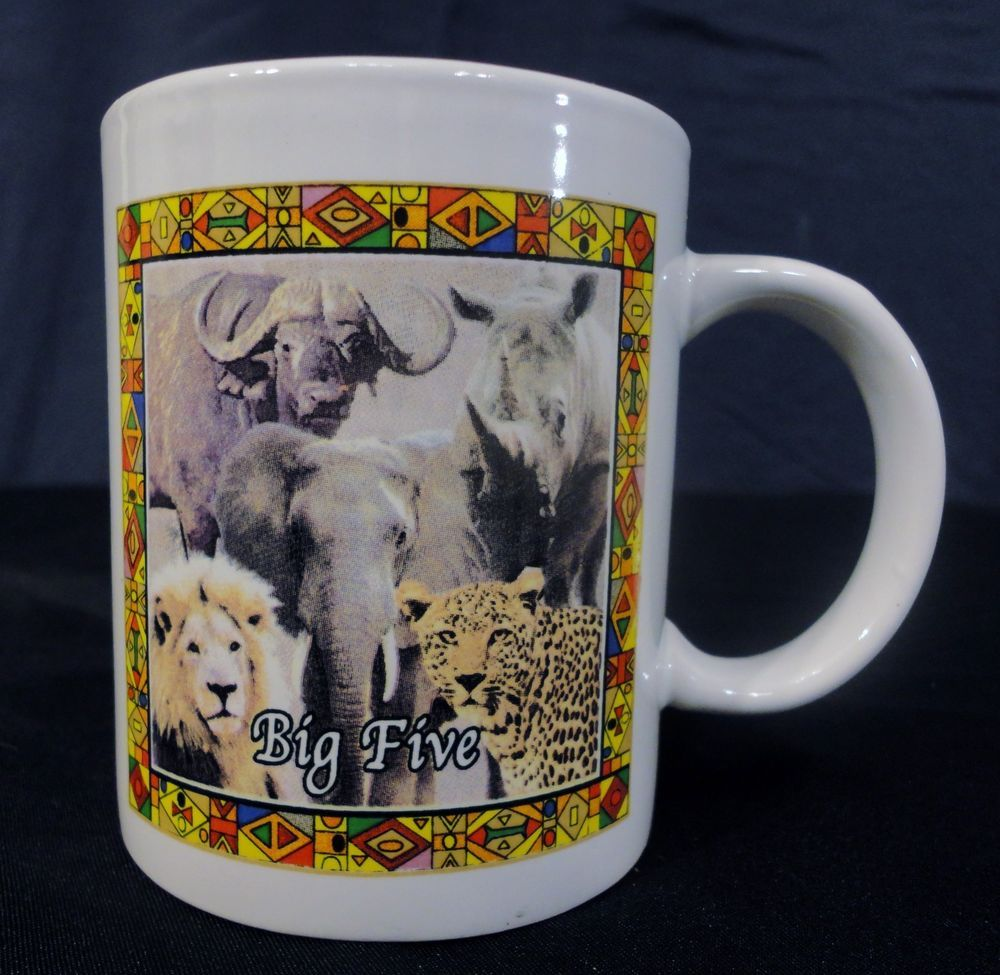 Big Five African Wildlife Coffee Mug Tea Cup Hot Chocolate Africa Lion Elephant # (With images ...