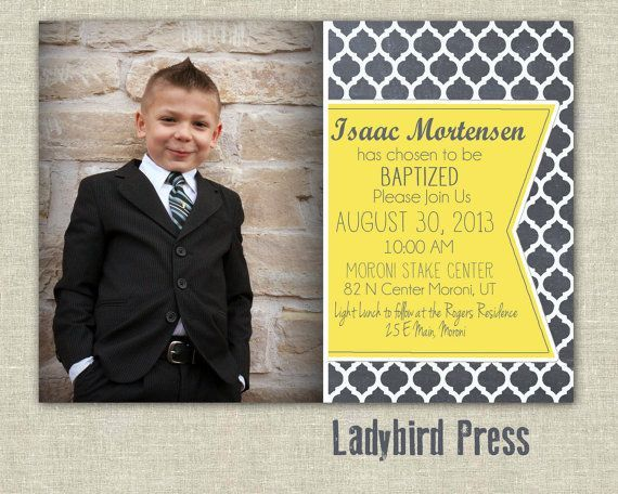 lds baptism invitations Printable Baptism Invitation Boy LDS