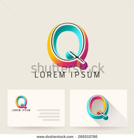 Letter Alphabet Q Logo Icon Design Template Element Vector Color