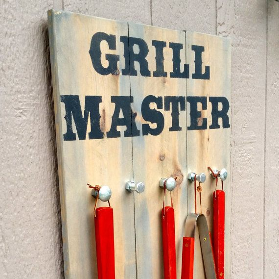 Grillin and chillin reclaimed cedar wood barbecue - Grill utensil storage ideas ...