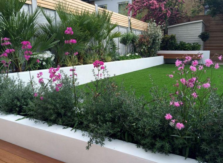 Parcelas rectangulares y jardines de chalets adosados: 24 ideas ...
