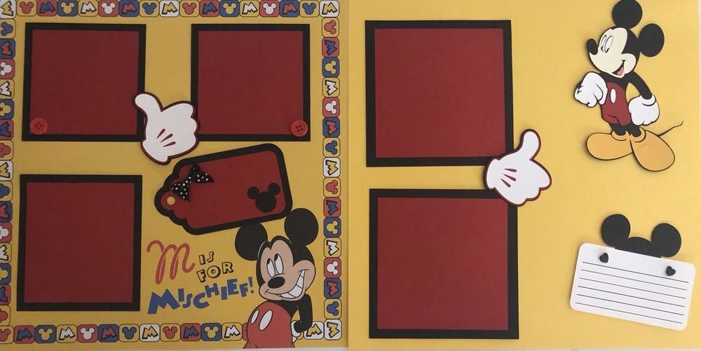 Mickey Mouse Mischief Scrapbook Page Kit 2 Pages Crafts