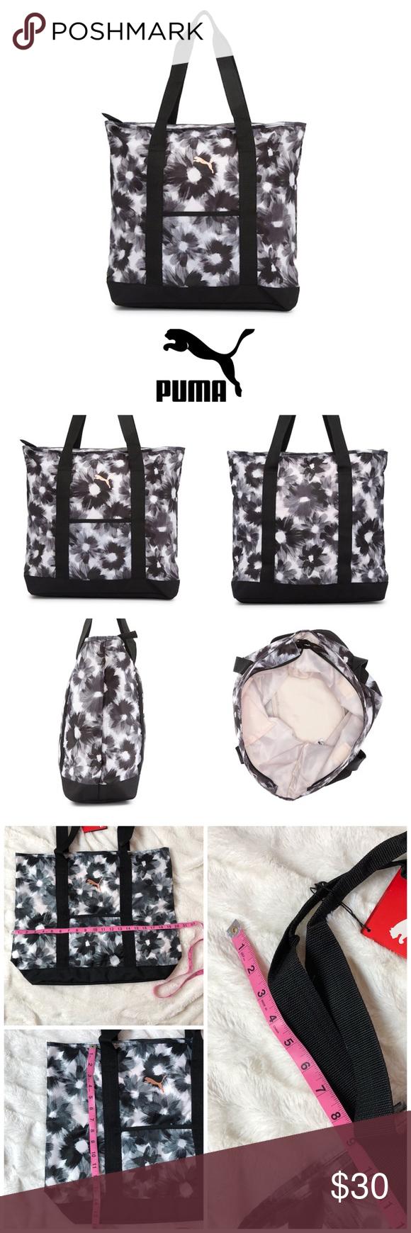 a0f7e2b80ac5 PUMA Evercat Cambridge Tote PUMA Tote Bag in stylish yet sporty floral  brush stroke print.