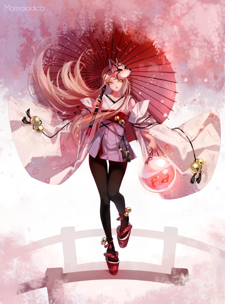 Kitsune By Marmaladica Deviantart Com On Deviantart Anime Character Design Kitsune Anime