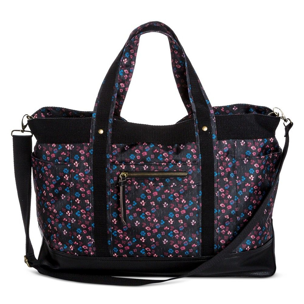 Women's Floral Weekender Bag Black - Mossimo Supply Co.