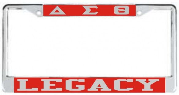 Greek Gifts Delta Sigma Theta License Plates DELTA - RED DST/LEGACY ...