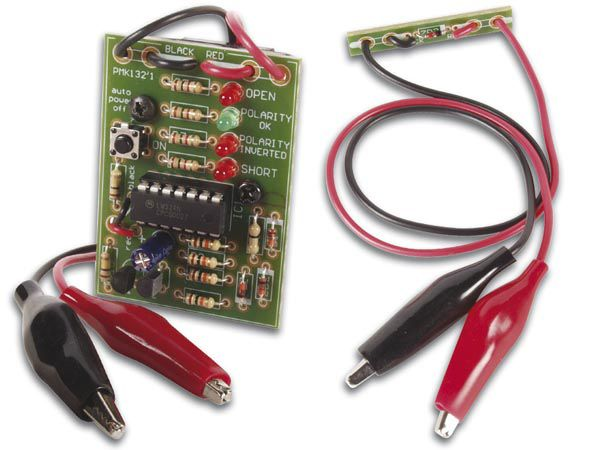 Velleman MK132: Cable Polarity Checker Check cables for ... on building circuits, electronics circuits, inverter circuits, power circuits, coil circuits, battery circuits, wire circuits, three circuits, thermostat circuits, control circuits, relay circuits, computer circuits, lighting circuits, audio circuits, motor circuits, electrical circuits,
