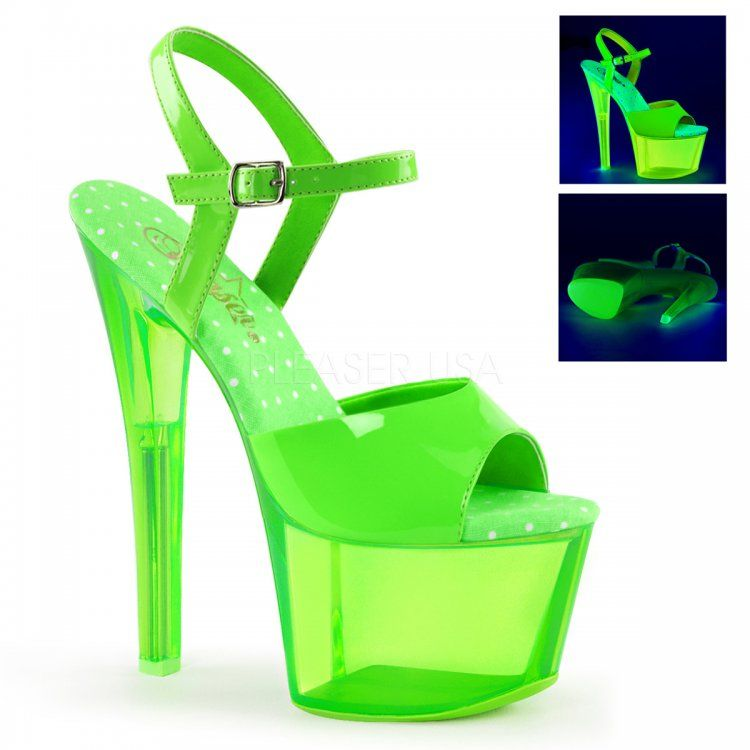 d27a47d657 Sky-309UVT Neon Green, Stripper Shoes, Pleaser Shoes | Things to ...