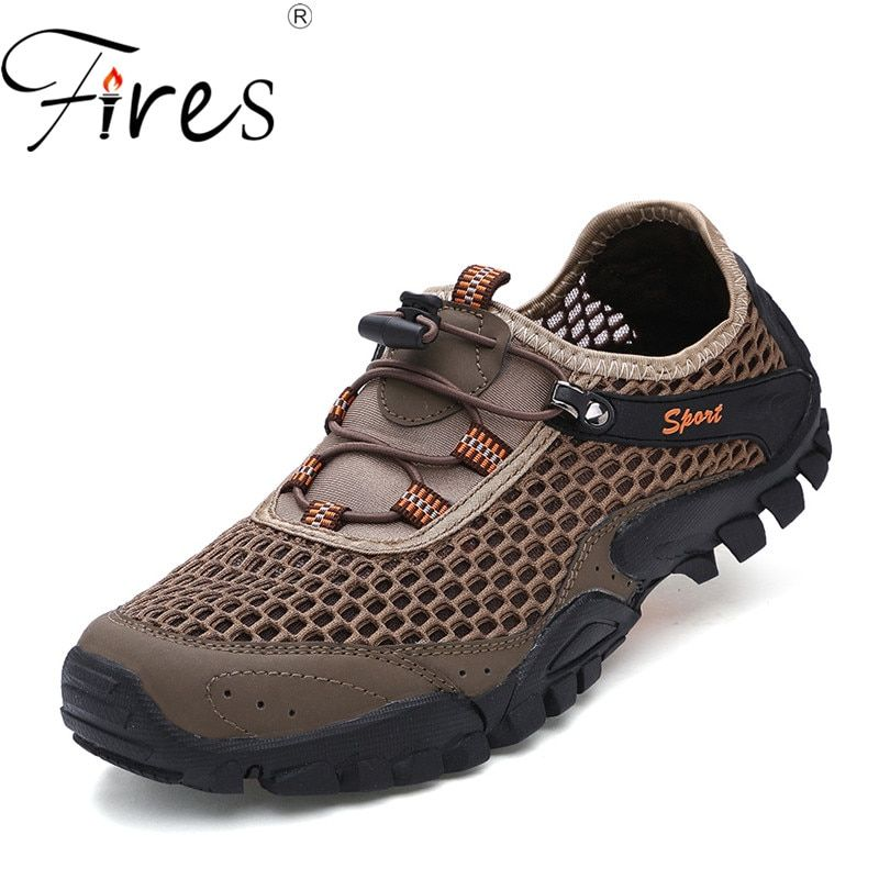 Fires Men S Hiking Shoes Comfortable Soft Sport Shoes Male Non Slip Soles Walking Sneakers Man Breathable Cool Outdoor Sneaker Outdoor Shoes Men Sport Shoes Men Mens Walking Shoes