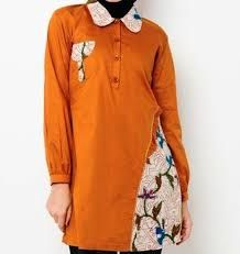 Hasil Gambar Untuk Baju Kerja Batik Kombinasi Polos Dresses Pola