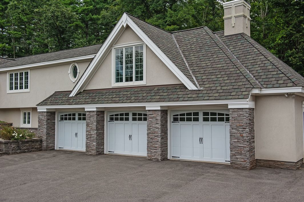 Carriage House Garage Doors By C.H.I. Overhead Doors. Model 5332A Shown In  White With Optional Stockton Windows And Spade Hardware. Www.chiohd.com
