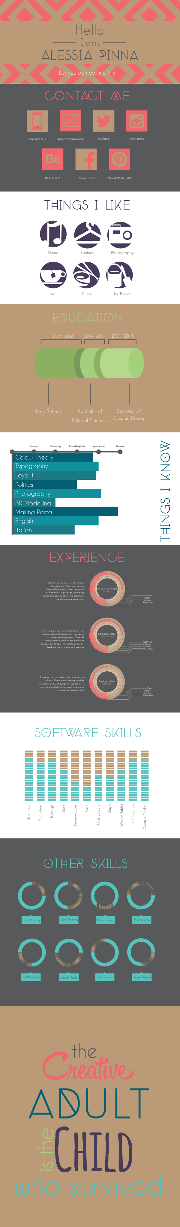 I design infographic resumes like this one - check out my ...