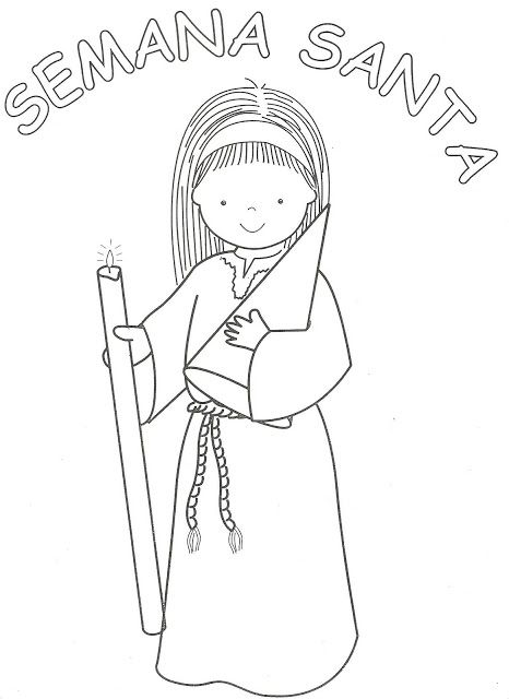Dibujos Catlicos  Semana Santa para colorear  dibujos