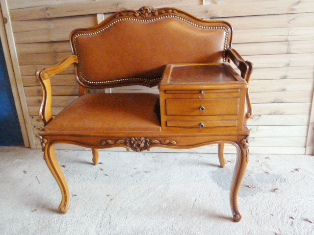 Chair Louis XV Baroque Style phone stand Fauteuil téléphone