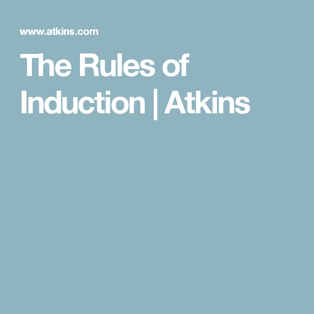 Low Carb Diet Rules of Induction   Atkins induction ...