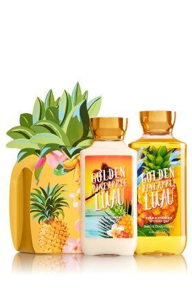 Golden Pineapple Luau Aloha Gift Set Bath Body Works