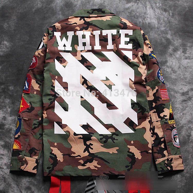 2eeda7d2d195 best quaity newest hip hop OFF white kanye west virgil abloh stripe 13  print men windbreaker