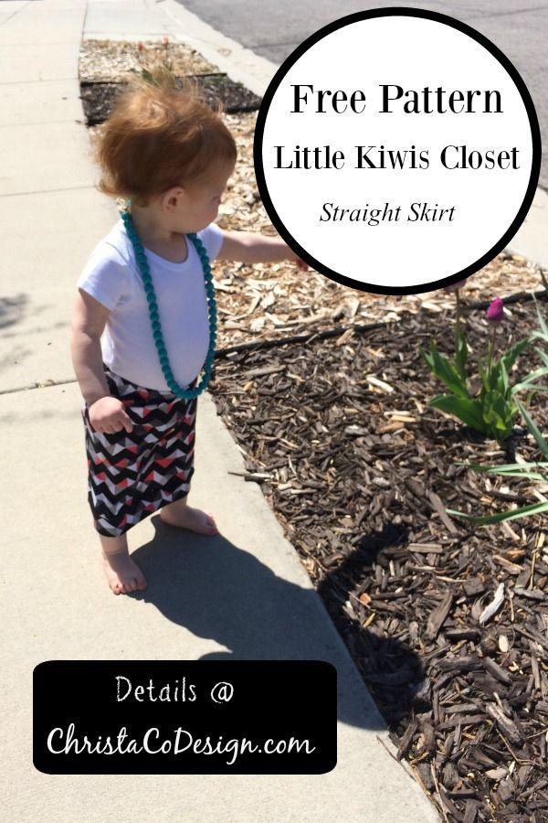 Little Kiwis Closet Straight Skirt Pattern Review