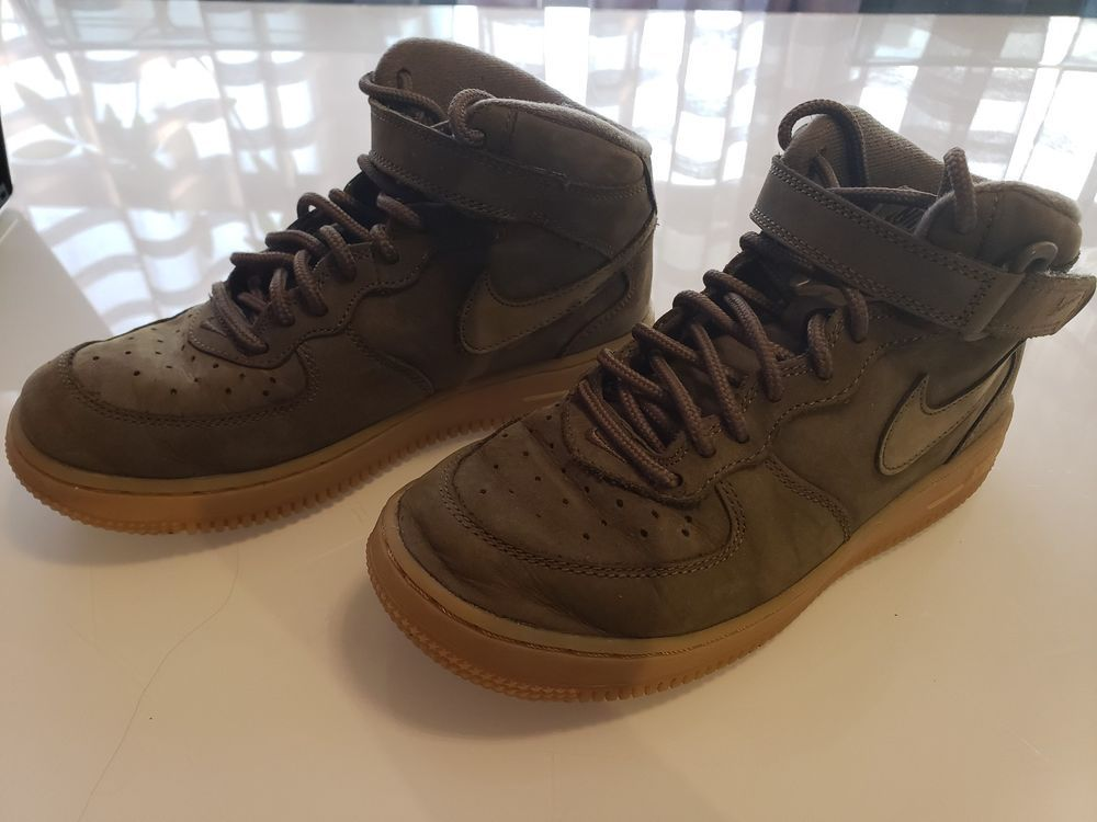 09250840d Nike Air Force 1 High WB (GS) Kids Shoes Size 3Y Olive Suede Gum 922066 202  #fashion #clothing #shoes #accessories #kidsclothingshoesaccs #boysshoes  (ebay ...