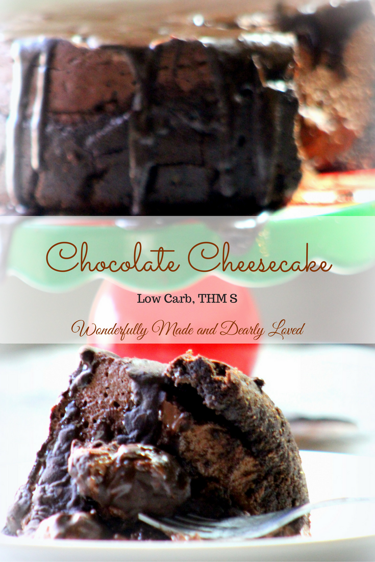 Dreamy Chocolate Cheesecake that is both Low carb and Trim Healty Mama (S) friendly.