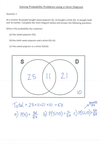 Venn Diagram Probability Notes Block And Schematic Diagrams