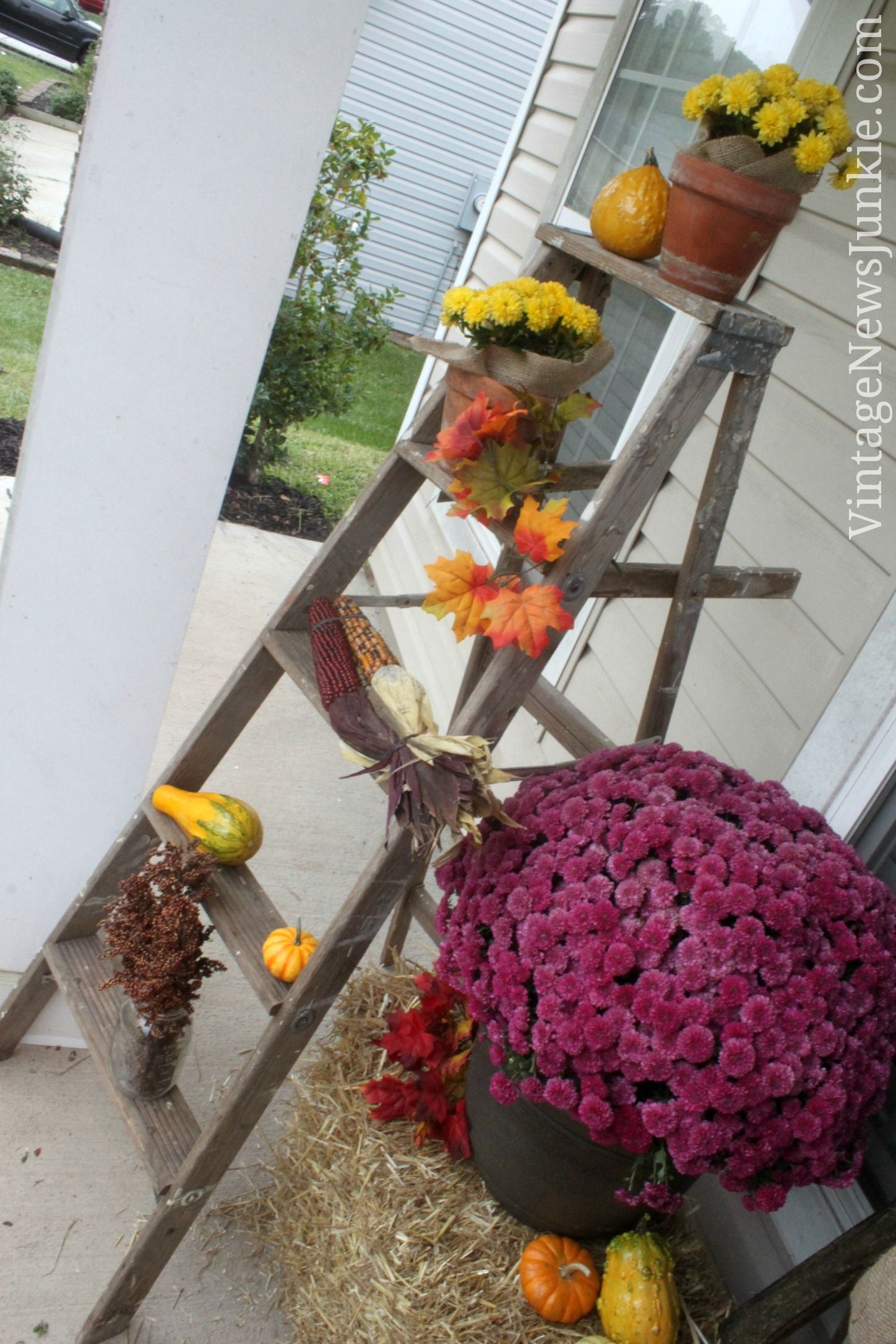 From front porch drab to falltastic fab before and after