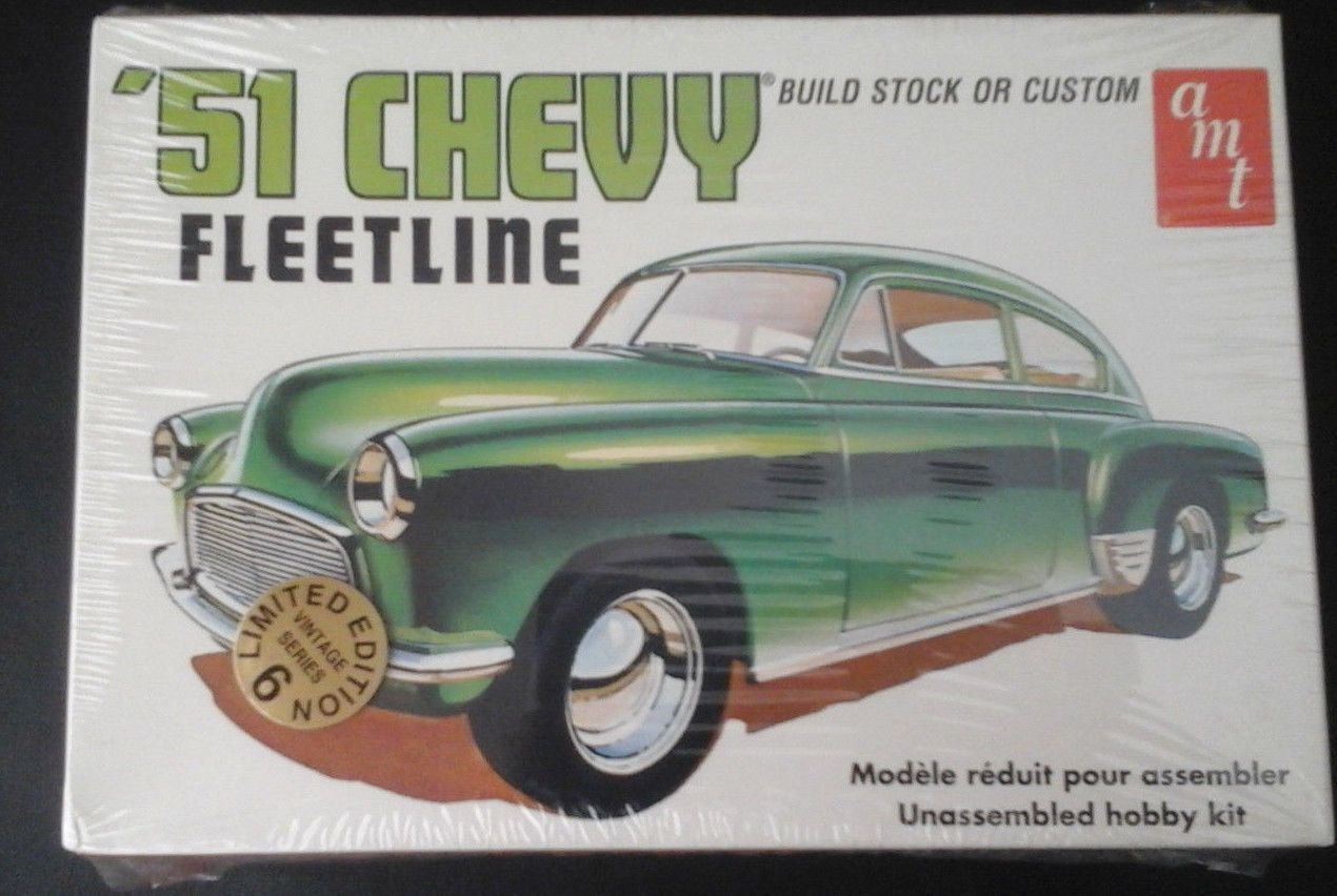 Hot Rod 2582 51 Chevy Fleetline Model Car Kit By Amt Factory Sealed Buy It Now Only 15 99 On Ebay Model Cars Kits Car Model