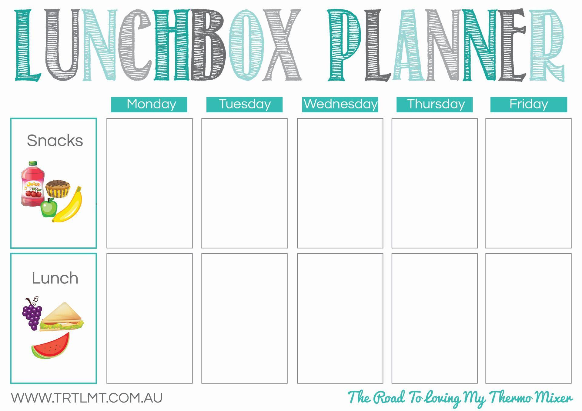 Lunchbox Planner Fb 2 Kids Lunch Menu School Ideas