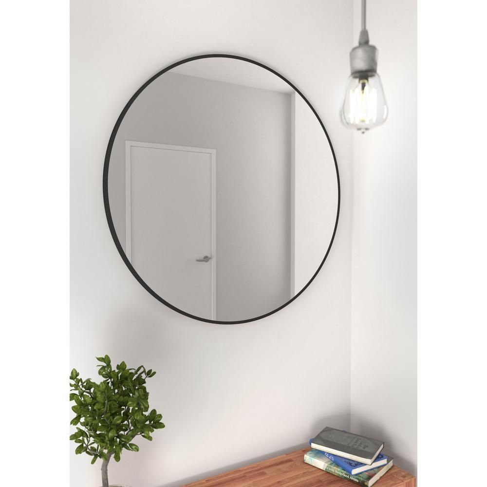 Black Round Wall Mirror 24 Inch Large Round Mirror Rustic Accent Mirror For Bathroom Entry Dining Roo Round Wall Mirror Black Round Mirror Rustic Wall Mirrors [ 2500 x 2500 Pixel ]