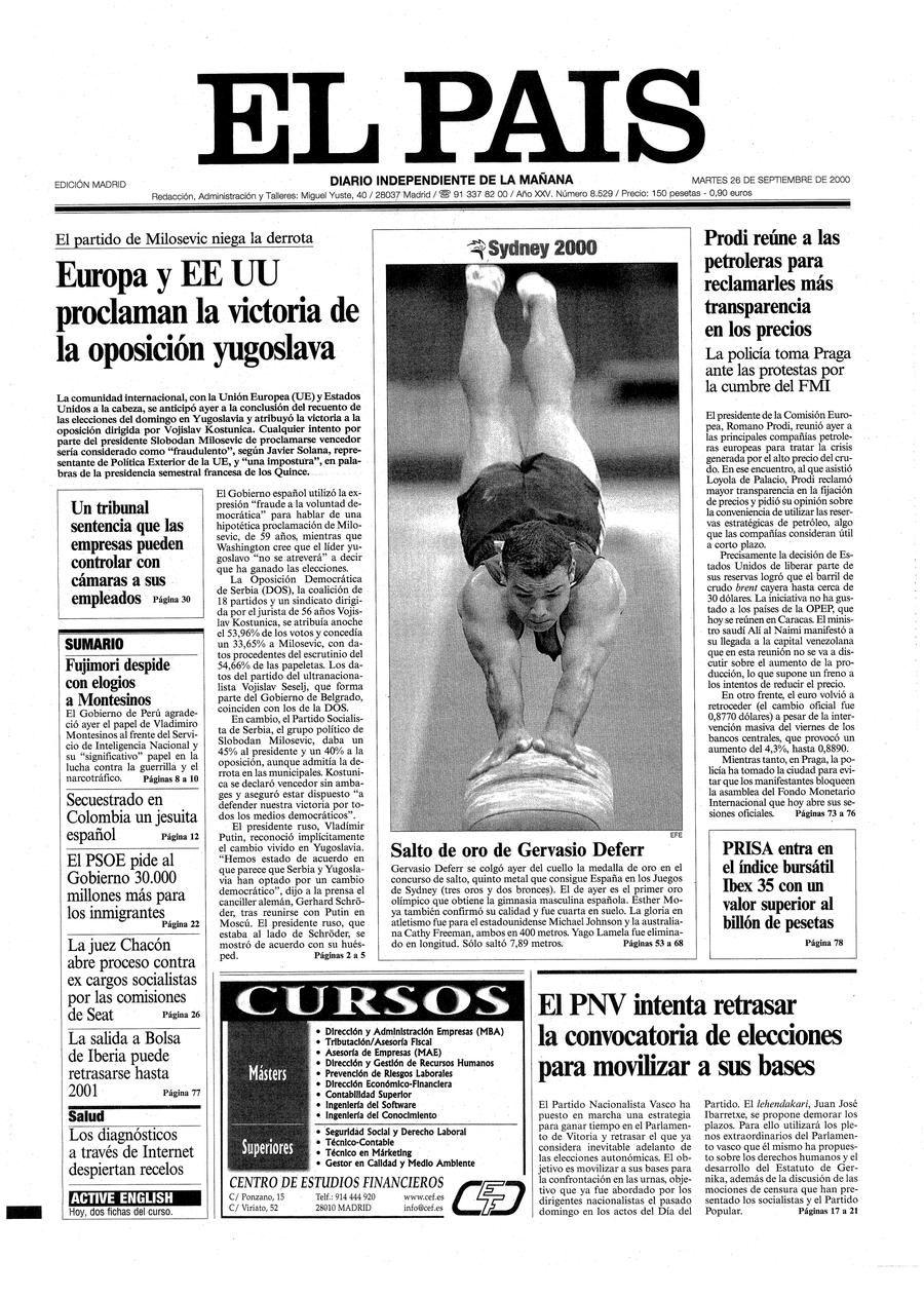 26 de Septiembre de 2000