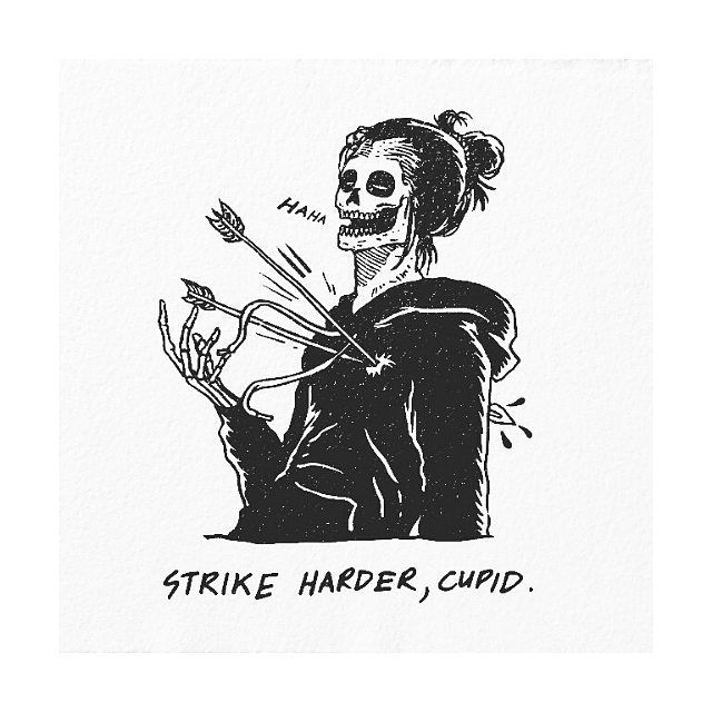 """""""Strike harder, Cupid"""" by @skvllpel #blackworknow if you would like to be featured If you want to…"""""""