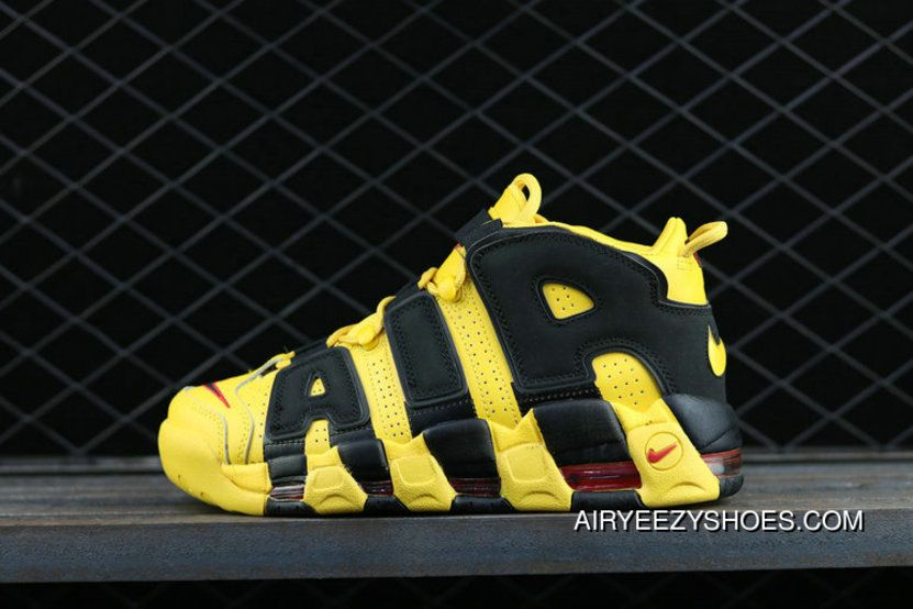 huge discount f356f 56bee Nike Air More Uptempo Custom Bruce Lee Black Yellow Noir Amarillo  Basketball Shoes Top Deals, Price   87.12 - Air Yeezy Shoes