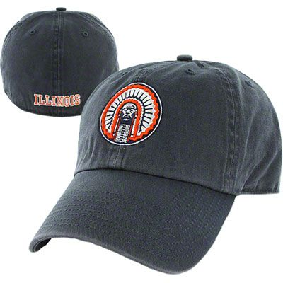 aac60c0acbcdf Illinois Fighting Illini Navy  47 Brand Franchise Vintage Chief Illiniwek Fitted  Hat