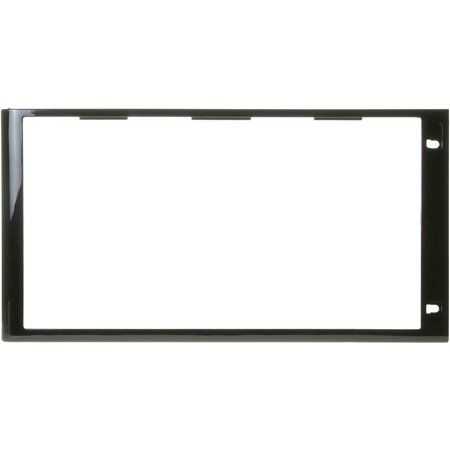 This is a genuine OEM replacement part for a GE WB55X10813 Microwave Door Frame. Color: Black.