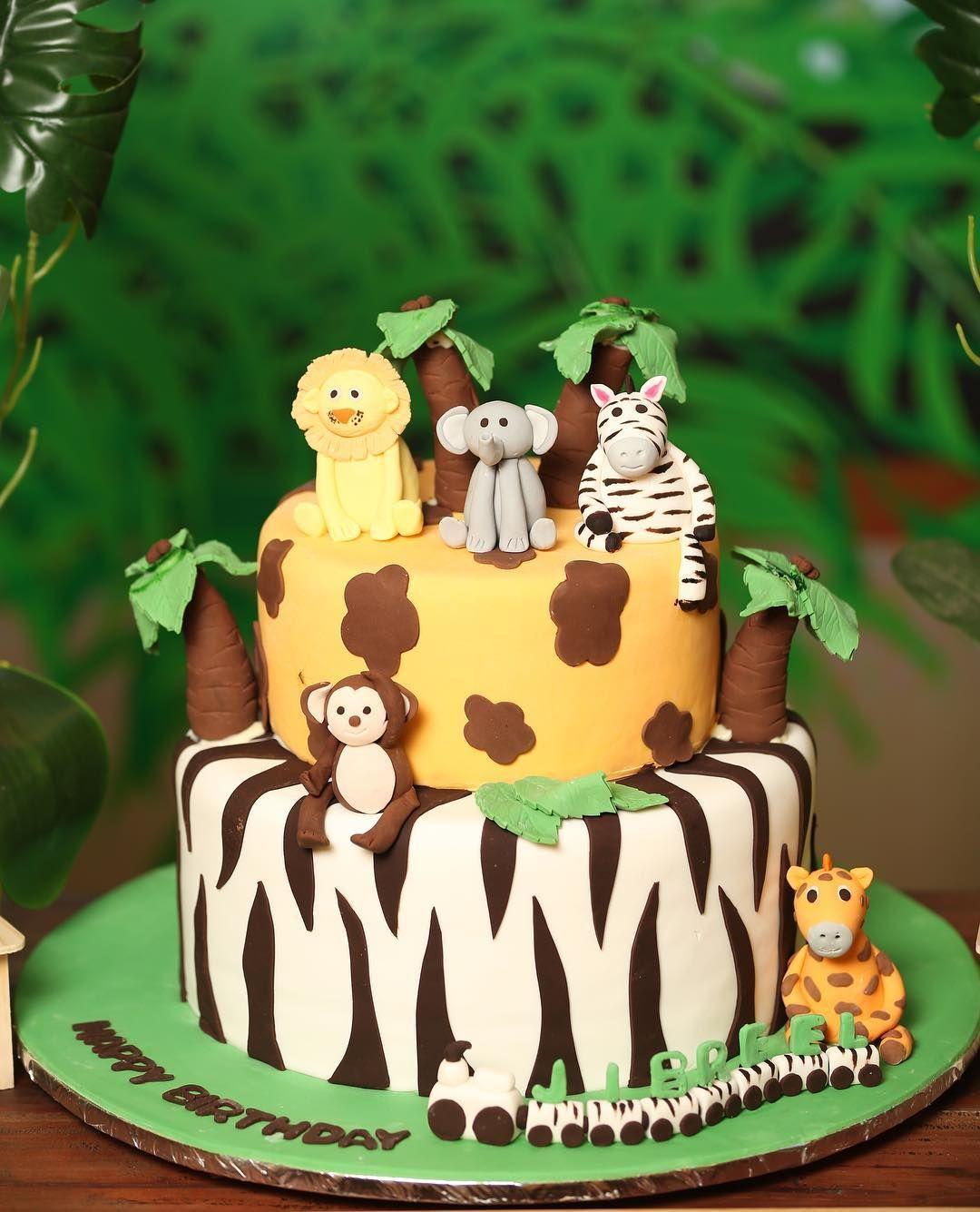 Admirable Jungle Safari Birthday Cake Safari Birthday Cakes Safari Cakes Funny Birthday Cards Online Elaedamsfinfo