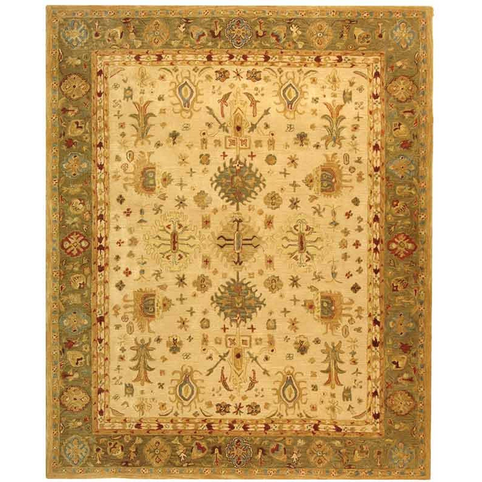 Amazon Com Safavieh Anatolia Collection An547b Handmade Ivory Hand Spun Wool Area Rug 9 Feet By 12 Feet Wool Area Rugs Handmade Wool Rugs Handmade Area Rugs