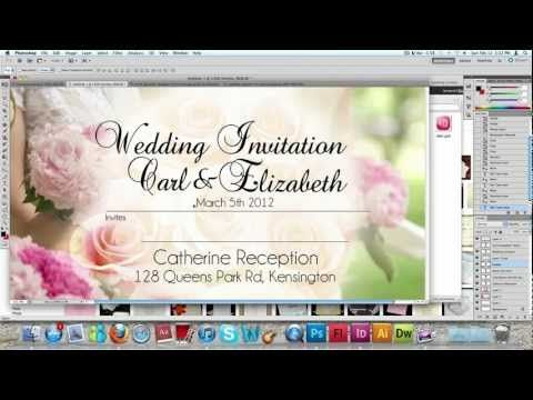 How to make a wedding invitation card usng photoshop youtube how to make a wedding invitation card usng photoshop youtube stopboris Image collections