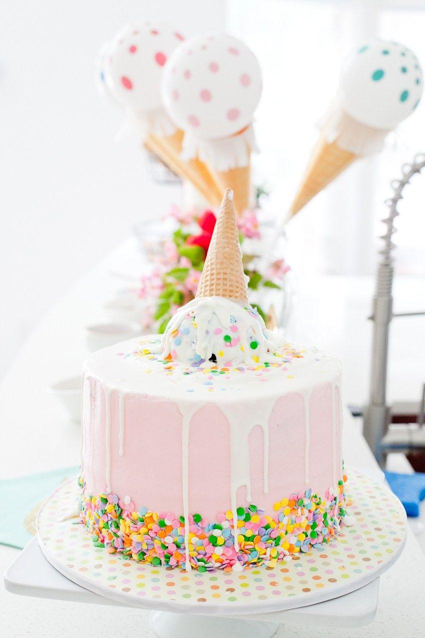 A Sweet Ice Cream Social Birthday Party Zoey Birthday Ice Cream