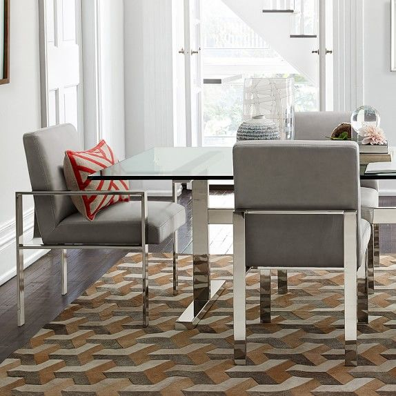 Pin By Ahmed Abdelbary On Staniless Dining Room In 2021 Rectangular Dining Table Dining Arm Chair Dining Nook