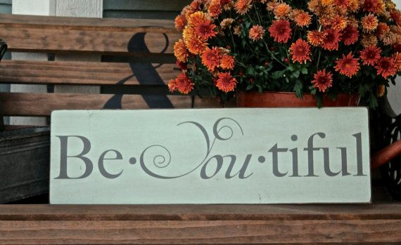 BeYoutiful wood sign shabby chic decor mint green by RooBeeDesign