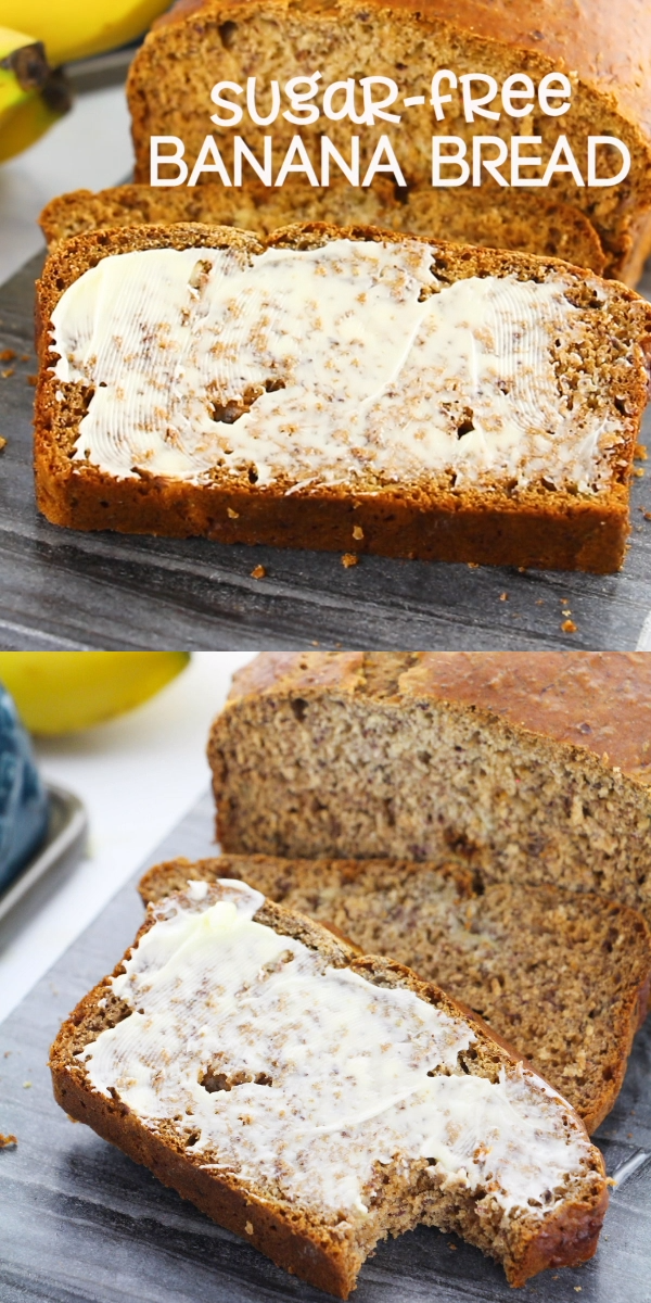 Sugar-free Banana Bread A delicious sugar-free banana bread recipe sweetened with honey. This easy breakfast loaf is perfect for a healthy brunch or an afternoon snack