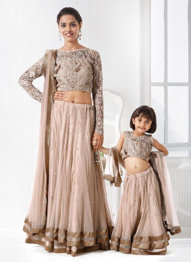 Latest Party Wear Mother Daughter Combo Collection 2015 ...