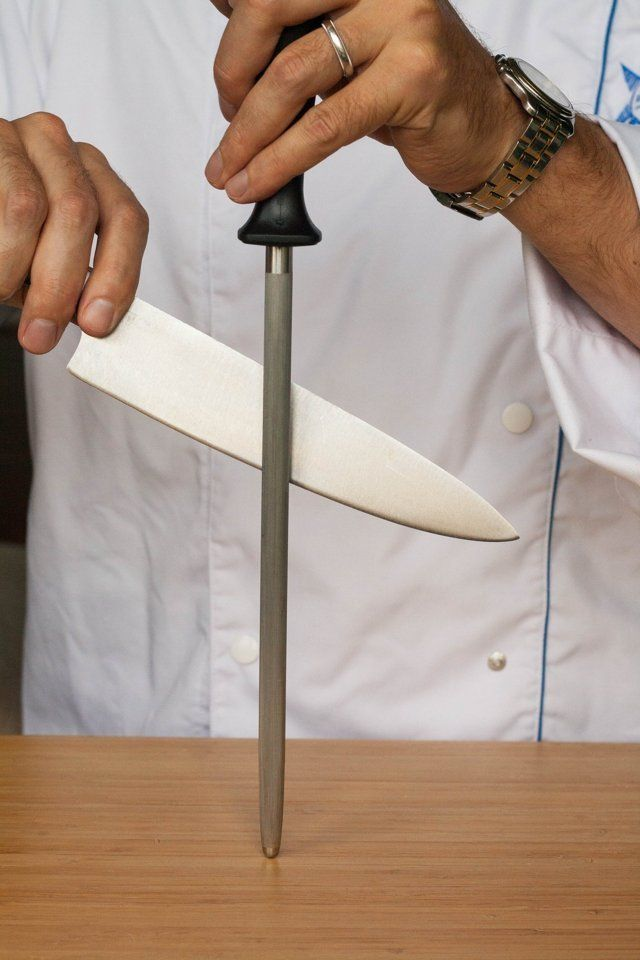 If you watch food competition shows, you'll probably see a competitor or chef expertly running their knives over that steel tool pictured above. In fact, you might even own one of those steels if you have a big knife set or knife block. So do you know what that tool is? It sharpens knives, right? But here's where you're wrong: That tool, no matter what it is labeled, is decidedly not a sharpening steel.