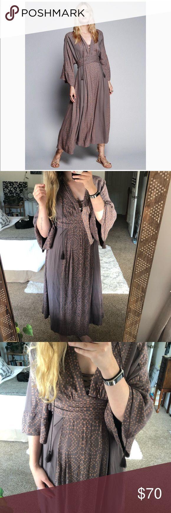 dieses free ist kimonokleid lang lila modern dress