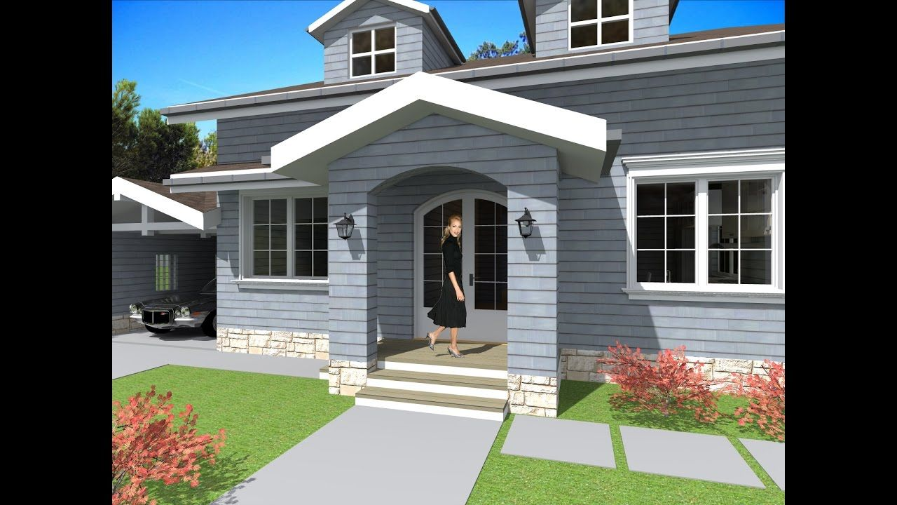 High Quality Casa Stil American Pe Un Singur Nivel. Casa Are 2 Dormitoare Si O Supraf.