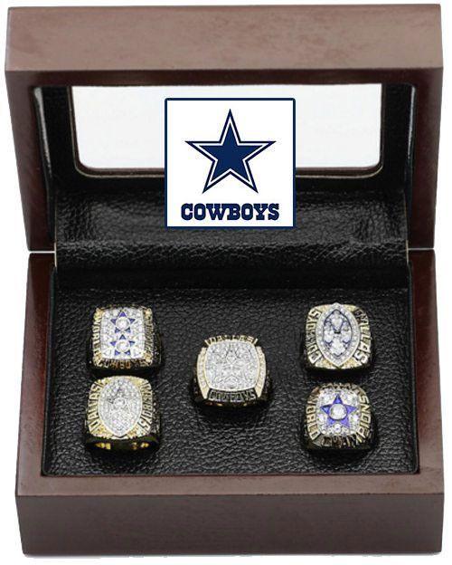 8b73c44e5 Dallas Cowboys Super Bowl Replica Ring Set (5) Years 71, 77, 92, 93, 95