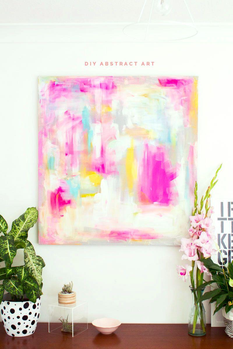Diy abstract artwork furniture hacks craft diy art and diy artwork